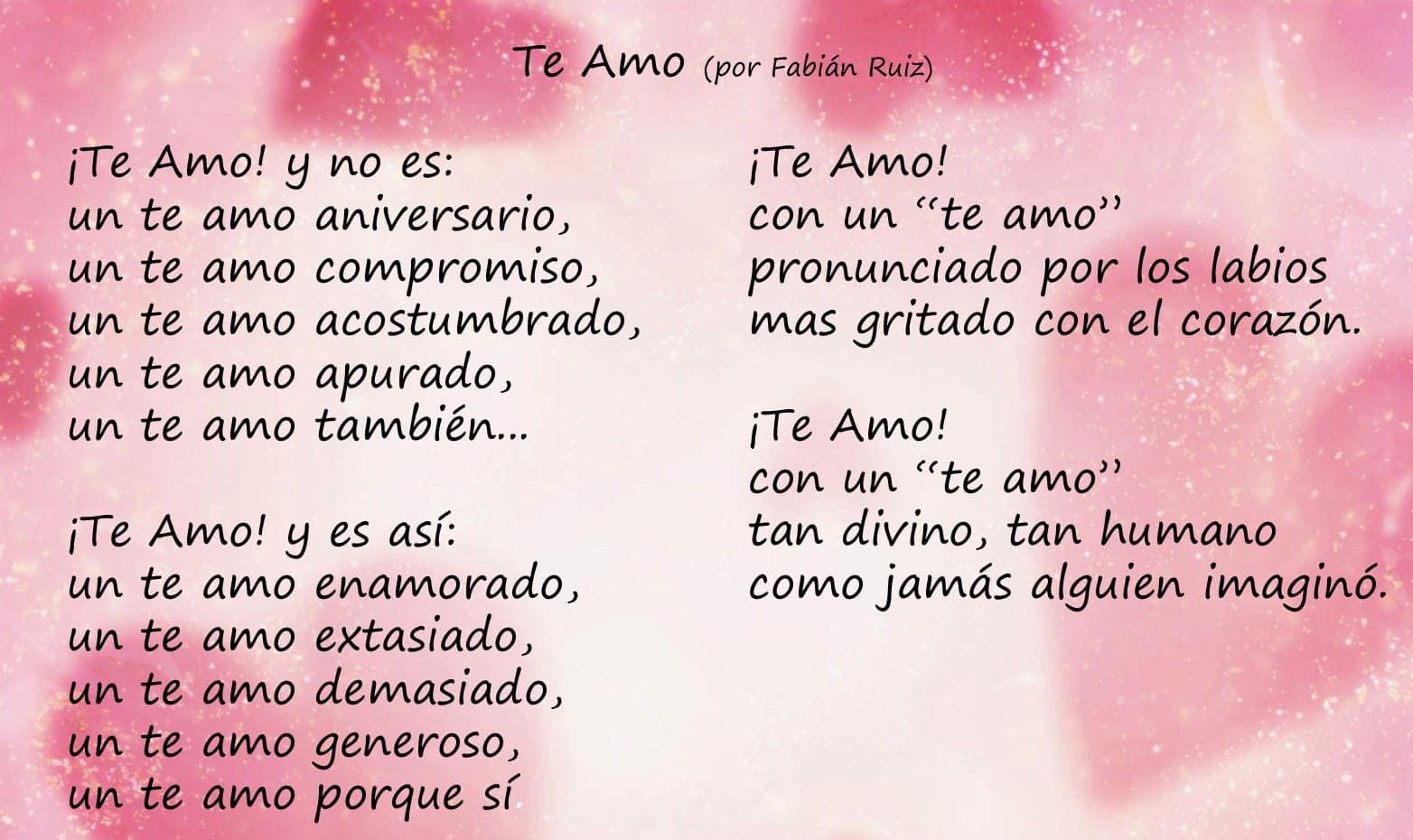 Poemas tiernos para mi amor