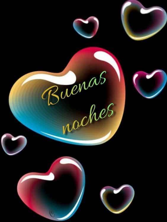 buenas noches con amor corazones