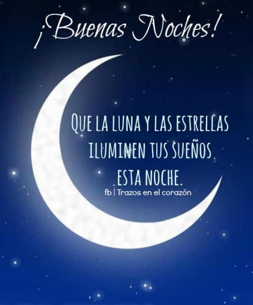 buenas noches la luna