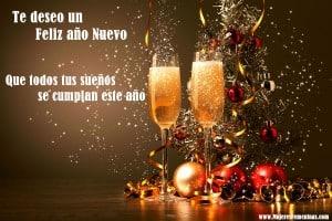 feliz año nuevo tarjeta dedicatoria