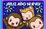 feliz-ano-nuevo-monos-felicitacion-tarjeta