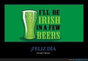 feliz dia de san patricio cerveza