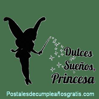 postal de dulces sueños princesa