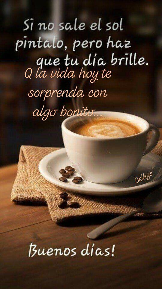 saludos de buenos dias con un cafe
