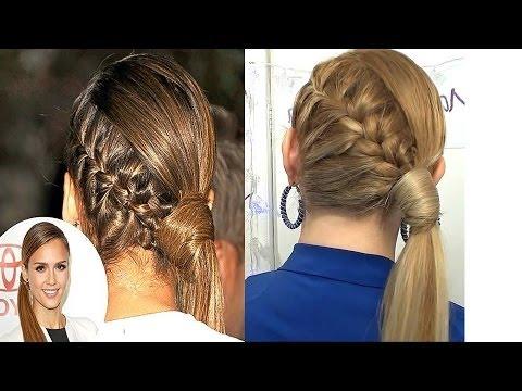 Peinados con trenza de un lado