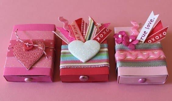 cajas para regalar enamorados