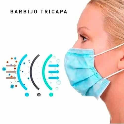barbijo triple capa filtro antibacteriano 1