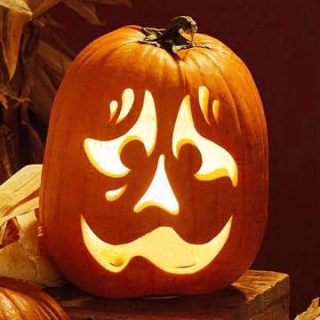 calabaza halloween asustado