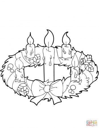 corona de adviento para colorear pintar