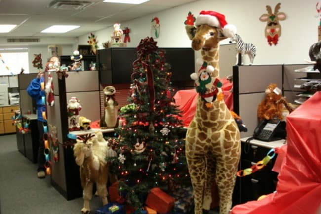 decoracion-navidena-oficina