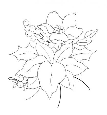 dibujo navidad tela flores
