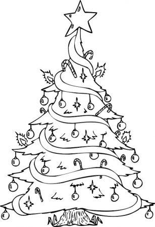 dibujos de arboles navidad colorear