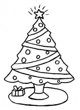 dibujos de arboles navidad colorear regalos