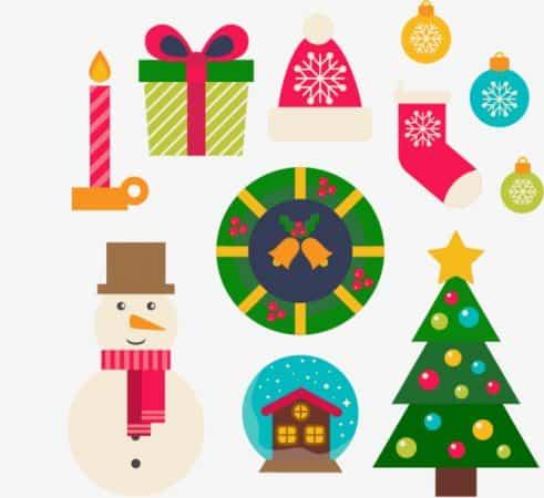 dibujos de navidad con color navideno