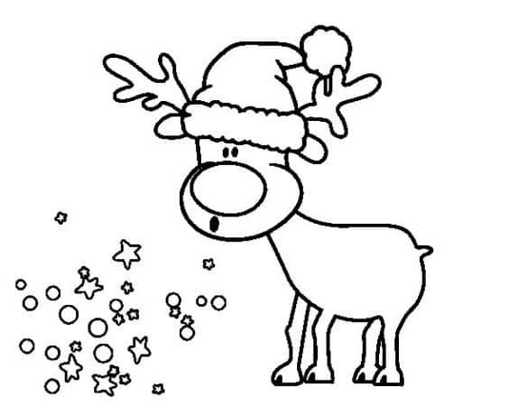 dibujos de navidad renos