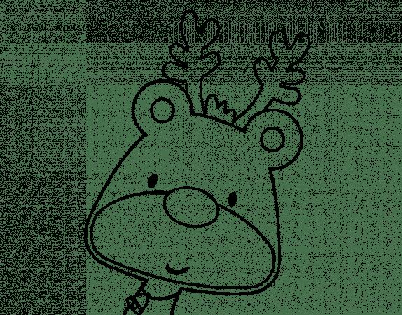 dibujos de navidad renos infantiles