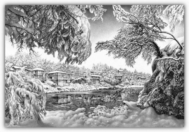 dibujos hechos lapiz nieve navidad 40