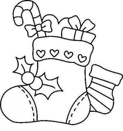 dibujos para calcar de navidad bota navidena