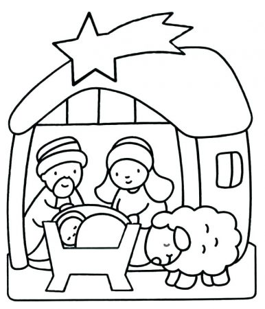 dibujos para calcar de navidad pesebre