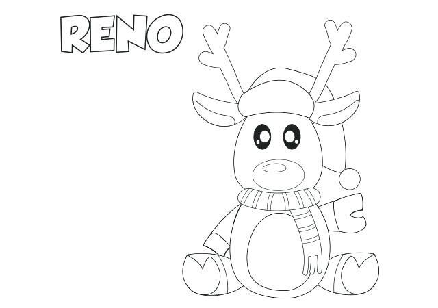 dibujos para colorear renos dibujos para colorear de renos navidenos