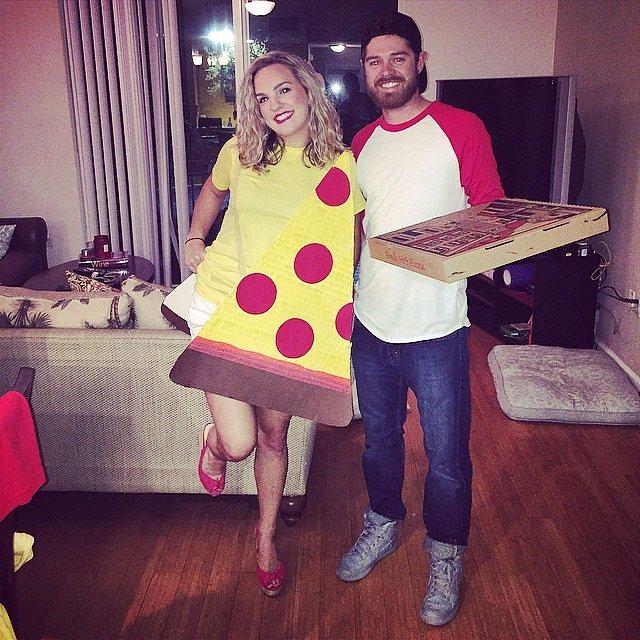 disfraces de halloween en pareja pizza