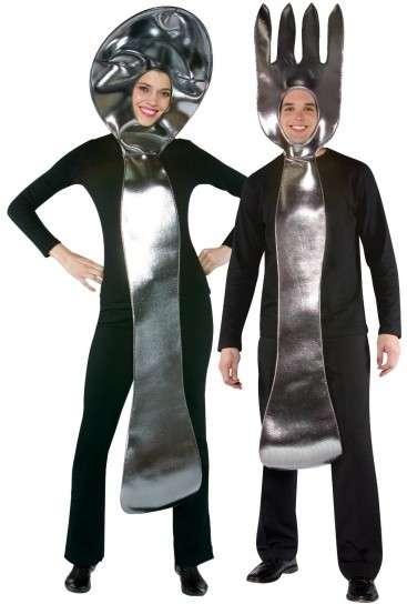 disfraces en pareja carnaval cuchara y tenedor