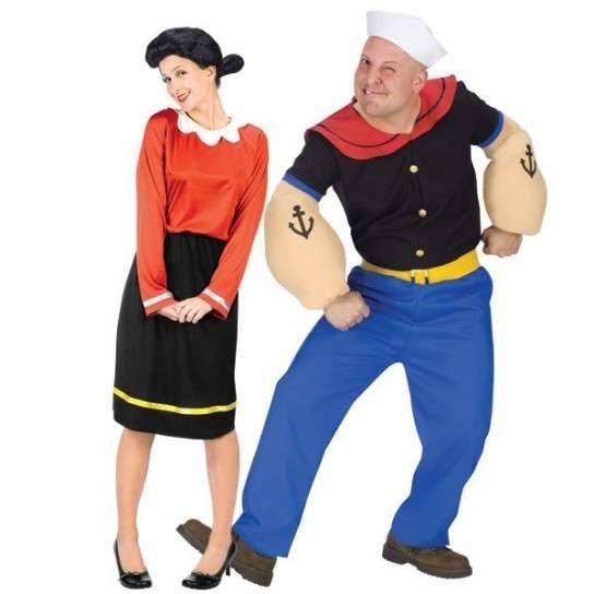 disfraces en pareja carnaval popeye y olivia