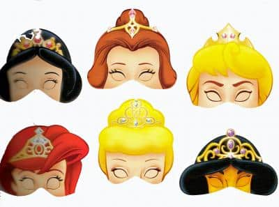 disfraz caretas princesas