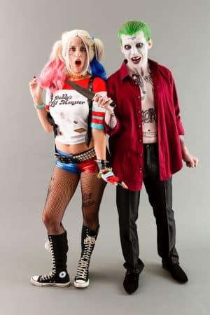 disfraz para parejas de joker harley quinn