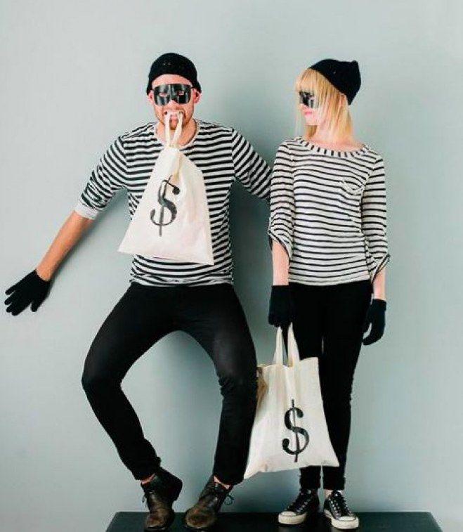 disfraz para parejas de ladrones divertidos