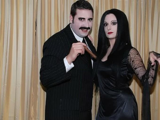 disfraz para parejas de locos adams
