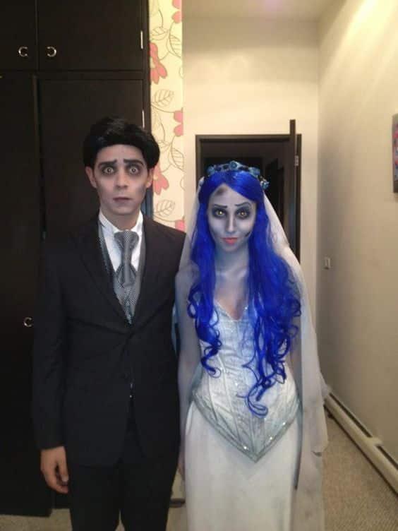 disfraz para parejas de novia