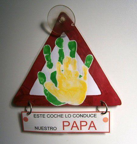 manualidad-dia-del-padre-señal-coche