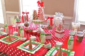 mesas navideñas en fotos