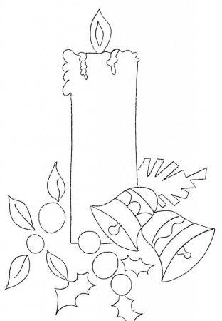 vela navidena dibujo para tela