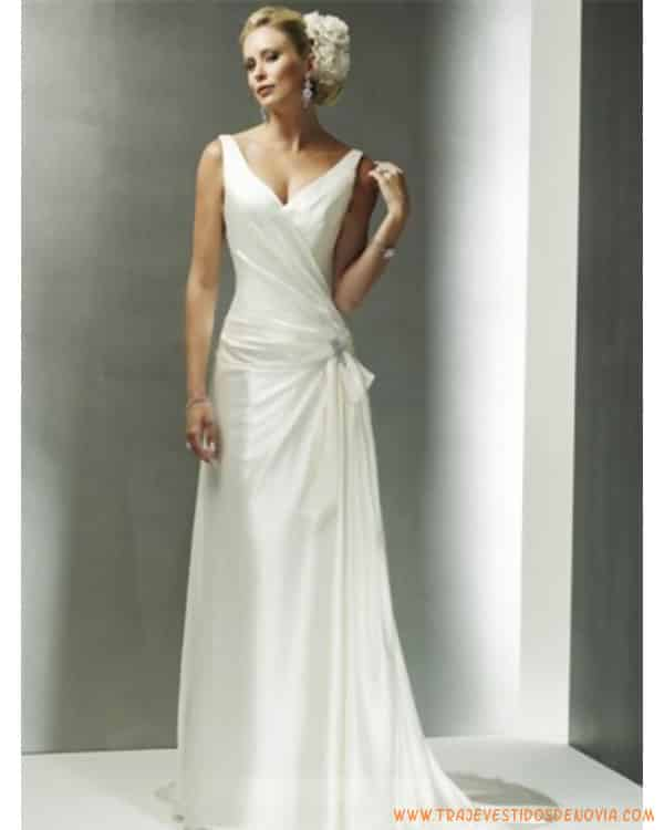 Vestidos de novia civil largos y sencillos