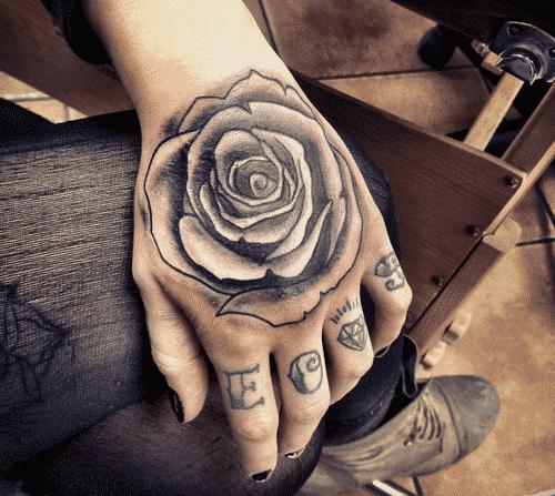 tatuajes de rosas en la mano significado