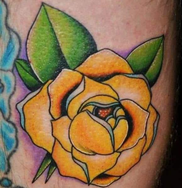 Tatuajes de Rosa Amarilla