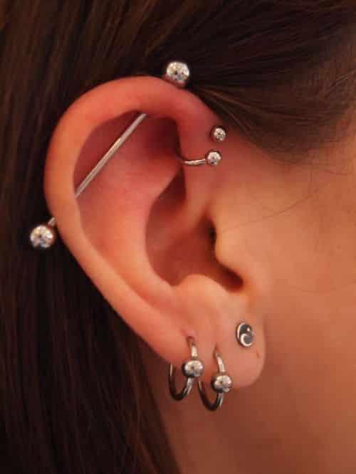 doble industrial piercing scaffold piercing