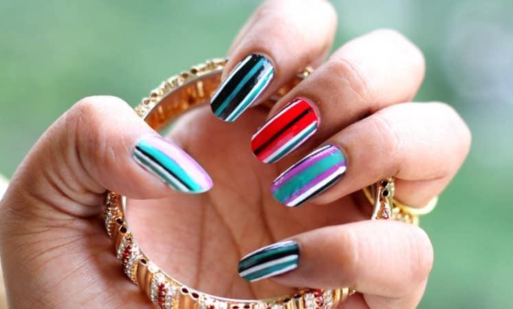 multi color nail art wallpaper