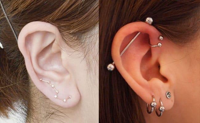 piercing oreja mujer tipos