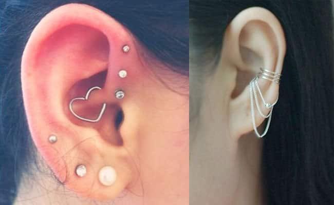 piercing oreja mujer