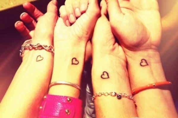 tattoo amigas cuatro
