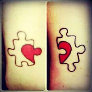 tatuaje amiga corazon