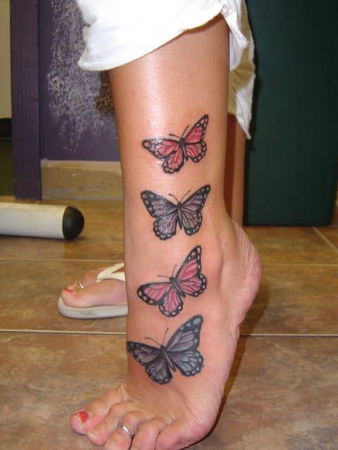 tatuaje-de-mariposas-pierna-mujer