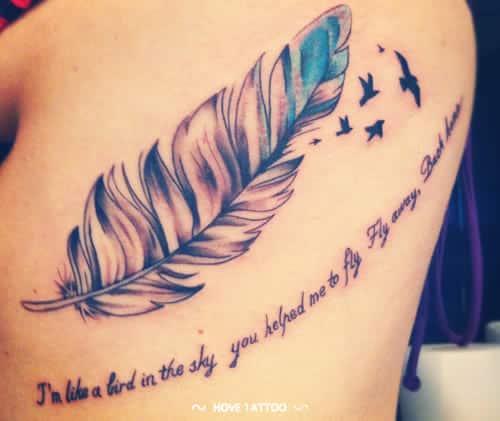 tatuaje-de-pluma-y-frase-de-amor