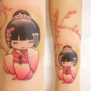tatuaje geisha antebrazo