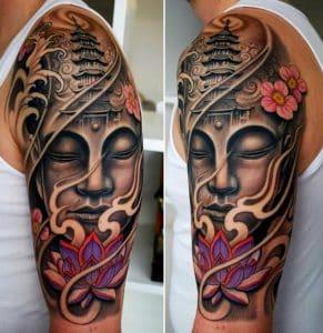 tatuaje japones templo
