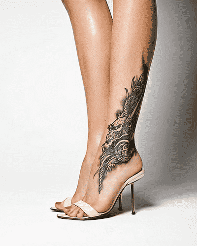 leg and foot tattoo