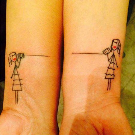 tatuajes amigas muneca